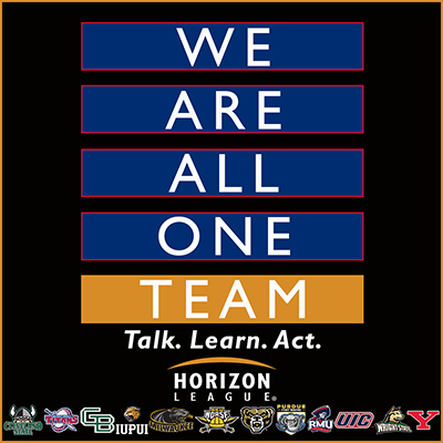 The Horizon League's graphic for We Are All One
