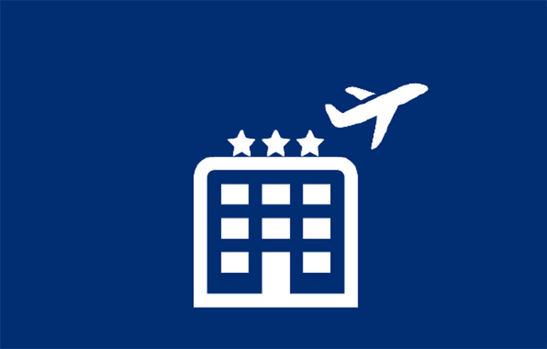 Hotel/Airplane Icon