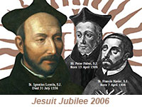 Society of Jesus founders Loyola, Faber, and Zavier