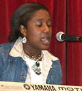Jennifer Clarke performing