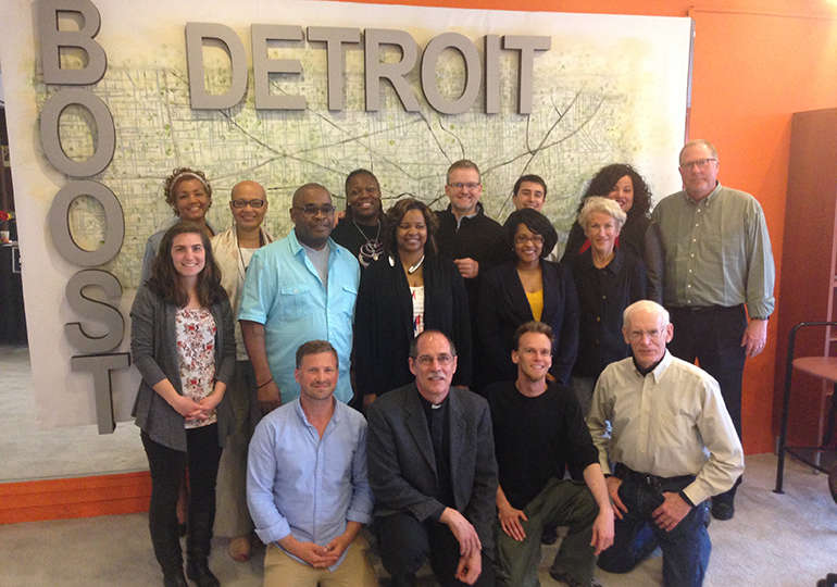 Group shot of people at the center for social entrepreneurship.