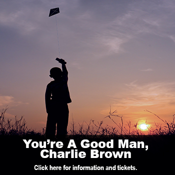 Boy flying a kite. You're A Good Man Charlie Brown, a musical by Clark Gesner, March 26 – April 5 at Marlene Boll Theatre.